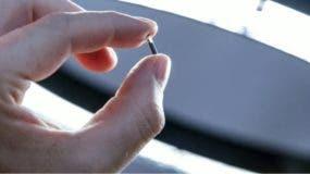 Los microchips tienen el tamaño de un grano de arroz.
