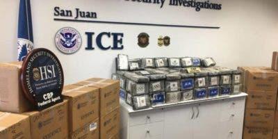 La droga incautada en Puerto Rico fue enviada desde República Dominicana.