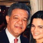 Leonel Fernández y su hija Nicole.