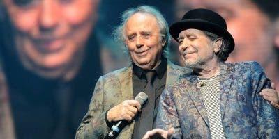 Joan Manuel Serrat y Joaquín Sabina iniciaron una gira que los une nuevamente en el escenario con todos sus éxitos.  FUENTE EXTERNA