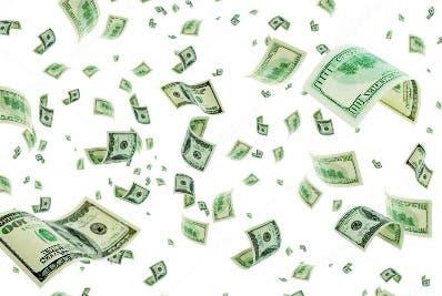 Anciano roba un banco y lanza el dinero al aire