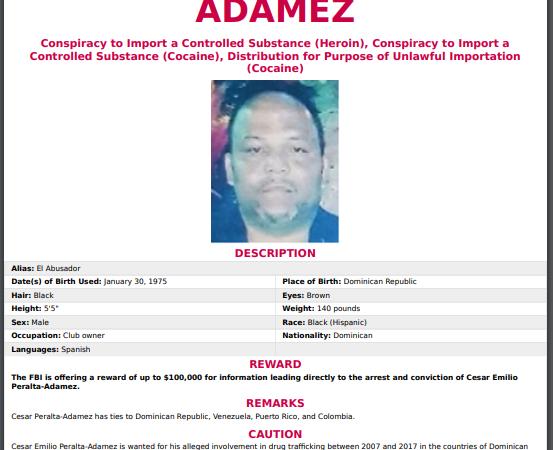 FBI ofrece 100 mil dólares por información sobre César El Abusador