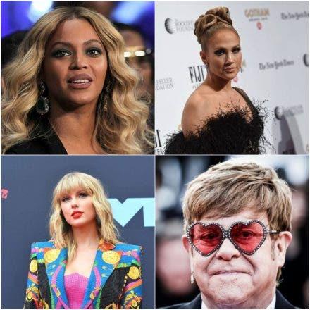 Beyoncé, Swift, Elton John y JLo nominados a los Globos de Oro