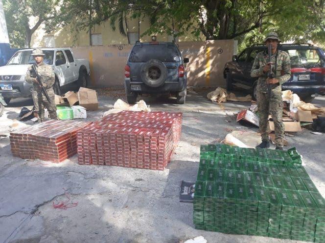Ejército ocupa cargamento de cigarrillos de procedencia extranjera