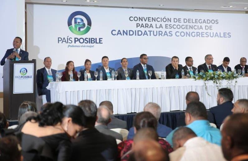 País Posible elige a 207 candidatos para comicios de mayo