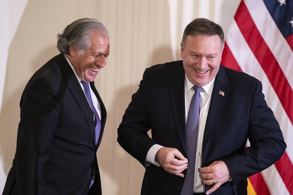 """Pompeo hace campaña por Almagro en la OEA: """"Es un campeón de la libertad»"""