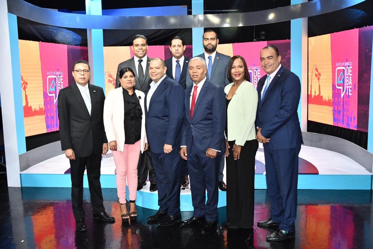 Realizan primer debate de candidatos a alcalde Santo Domingo Norte