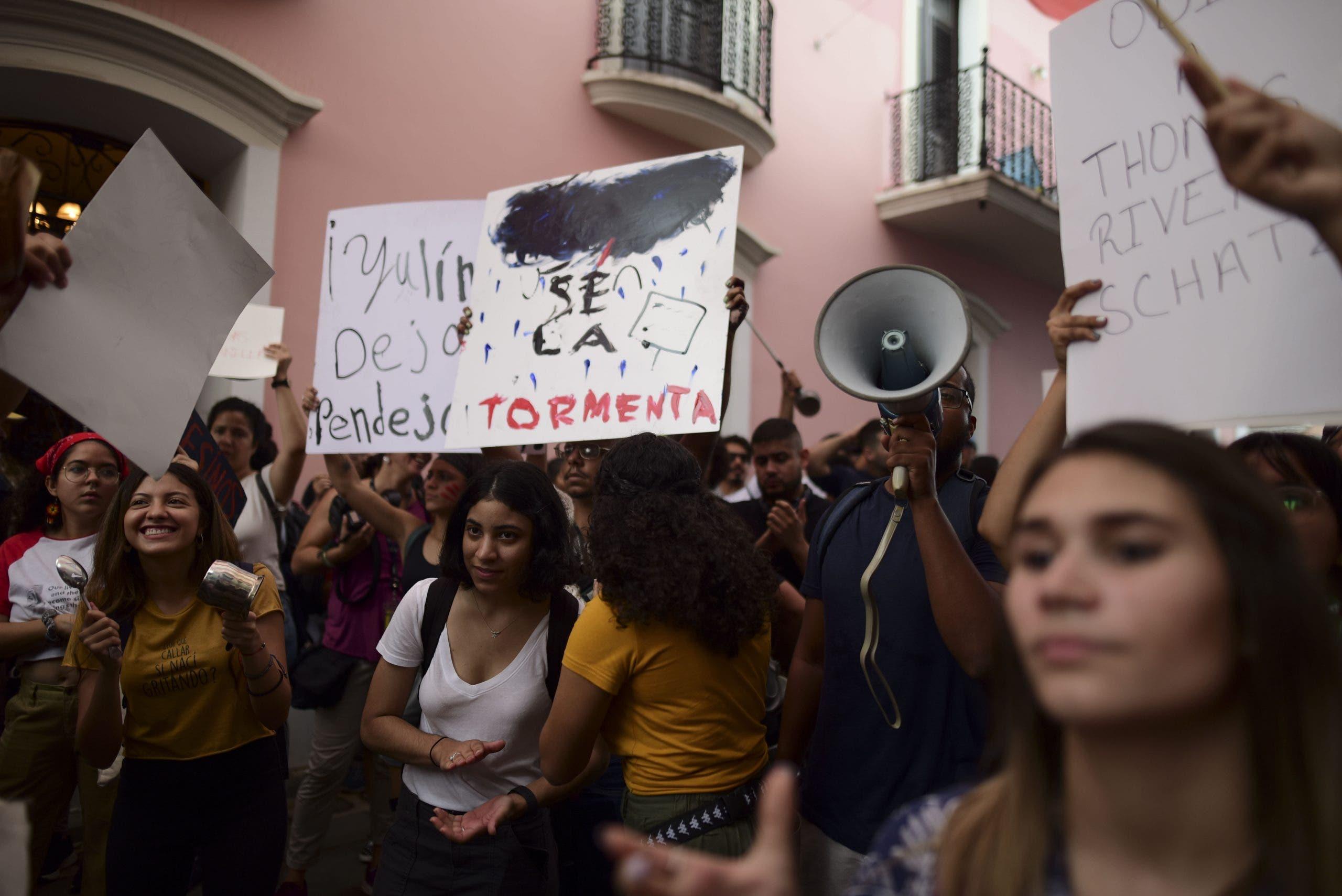 Protestas en Puerto Rico contra la gestión de la crisis de los terremotos