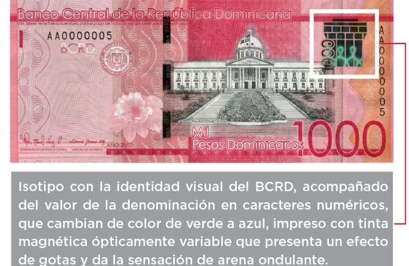 Billetes de mil con nuevo isotipo visual
