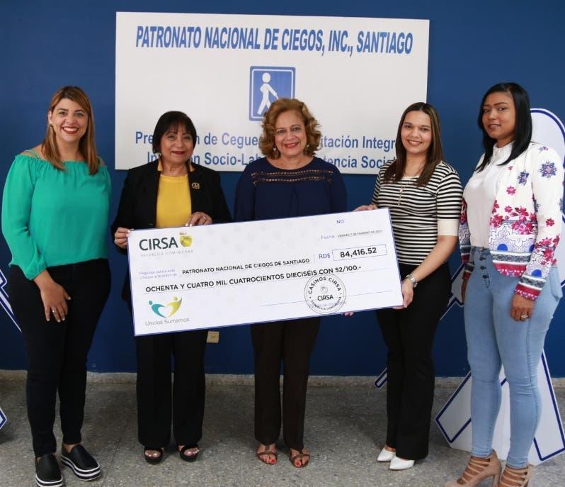 Grupo CIRSA entrega un donativo al Patronato Nacional Ciegos en Santiago