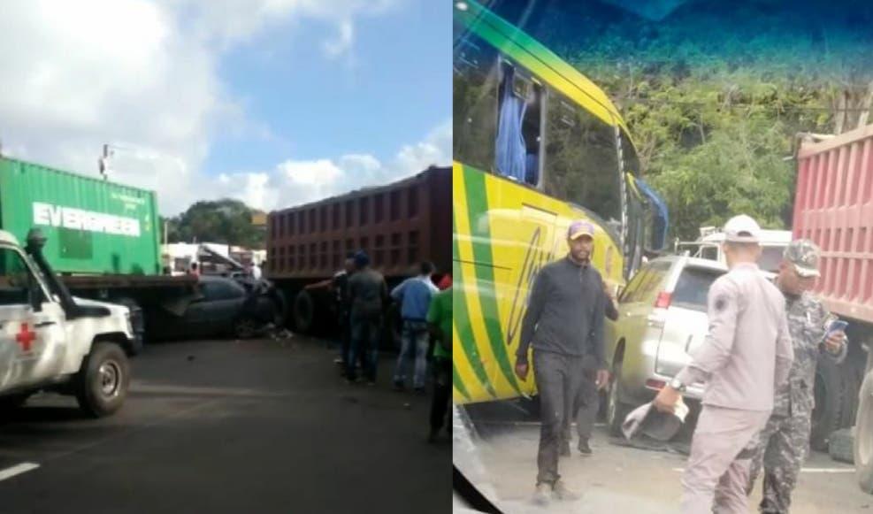 Accidente múltiple en Altamira deja varios heridos y gran taponamiento