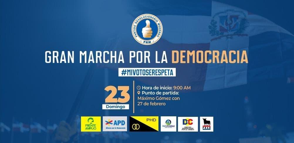 Partidos de oposición cambian ruta de la marcha caravana convocada para este domingo