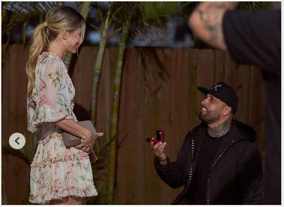 Nicky Jam le pide matrimonio a su novia en San Valentín