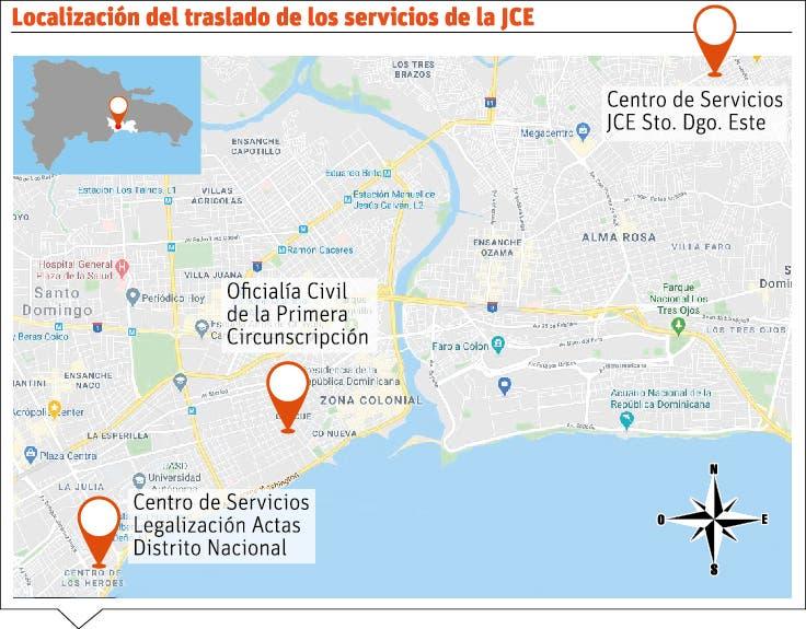 Junta Central Electoral traslada servicios para actas y legalización
