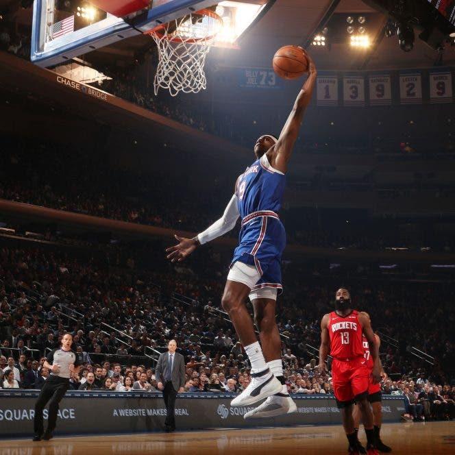Los Knicks sorprenden a los Rockets y vencen 125 por 123 en casa