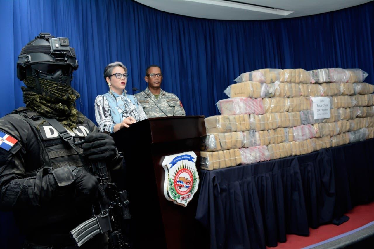 DNCDdecomisa 264 paquetes de cocaína al sur de Santo Domingo