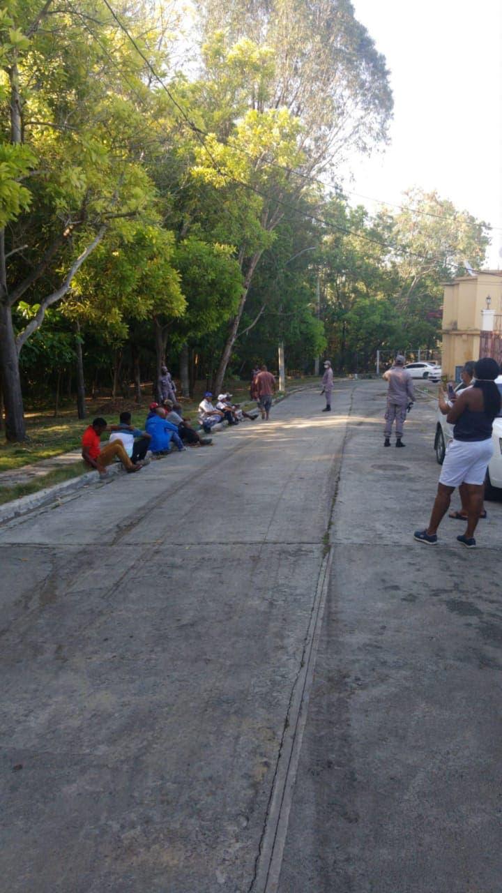 Policía arresta a nacionales haitianos por cortar y quemar árboles en área verde de Don Gregorio III