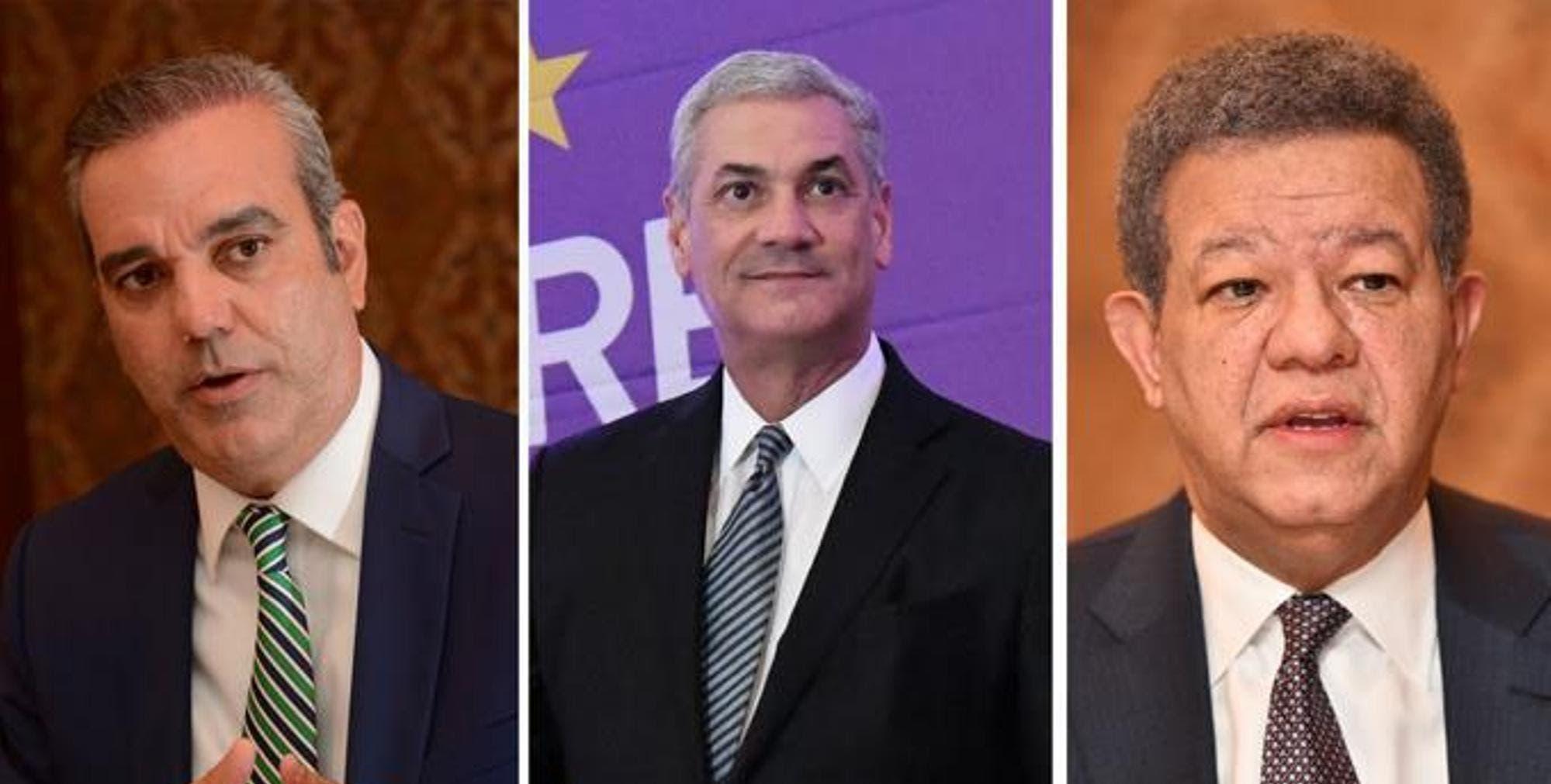 Abinader 51.8%, Gonzalo 31.5% y Leonel 14.3%, según encuesta IDEAME