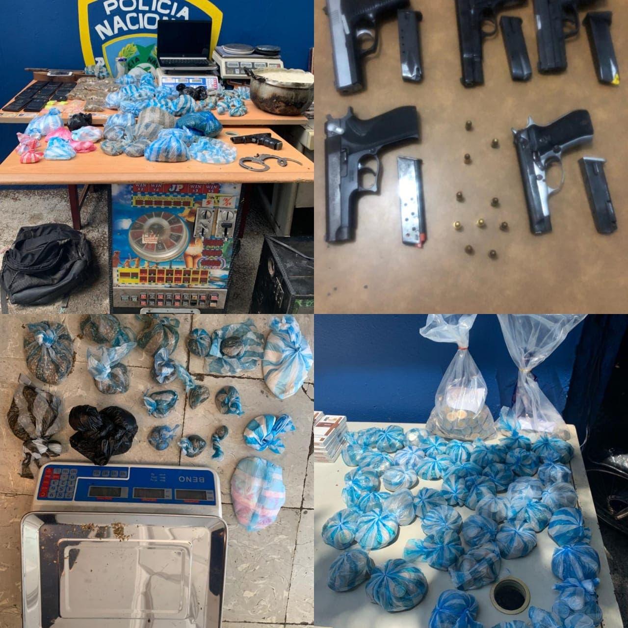 Policía apresa 21 personas; ocupa armas, drogas y dinero en Capotillo
