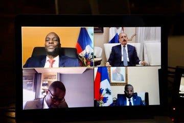 Presidente Medina sostiene encuentro por videoconferencia con su homólogo de Haití, Jovenel Moïse