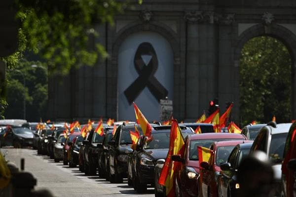 Convocados por la ultraderecha miles de españoles protestan contra Sánchez