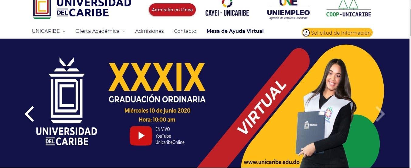 Universidad del Caribe realizará graduación de manera virtual por el coronavirus