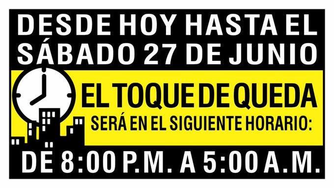 Toque De Queda Iniciara A Las 8 00 De La Noche A Partir De Hoy El Dia Nacionales