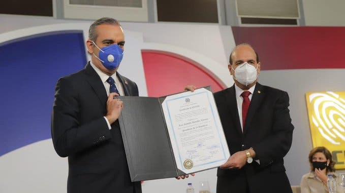 Primer discurso de Luis Abinader tras ser proclamado oficialmente como presidente electo