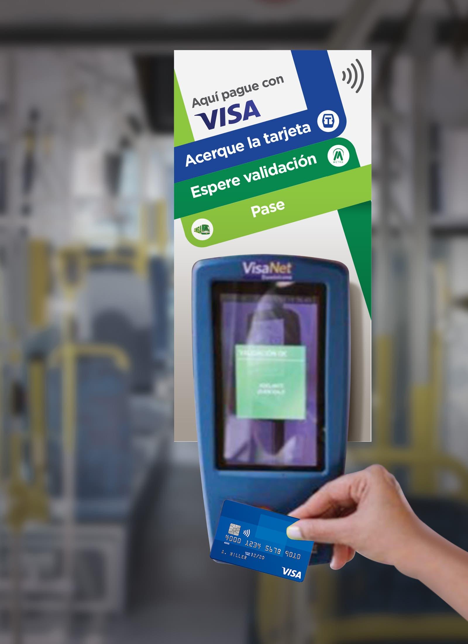 Dominicanos podrán pagar pasaje de la Omsa con tarjeta Visa
