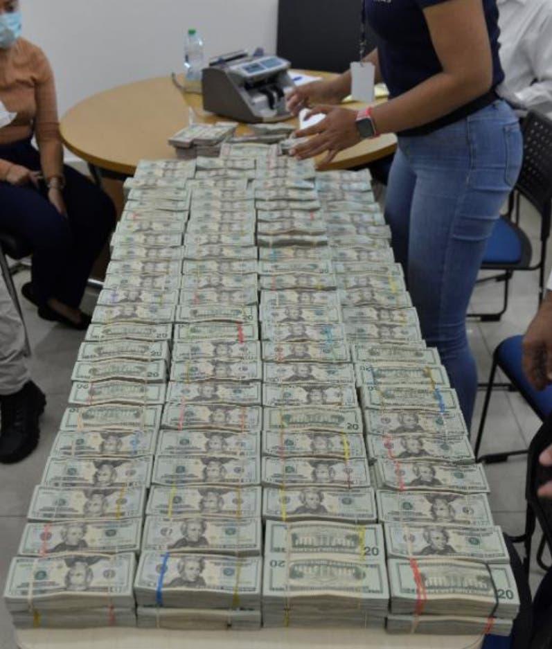 Aduanas se incauta de otros US$2.1 millones
