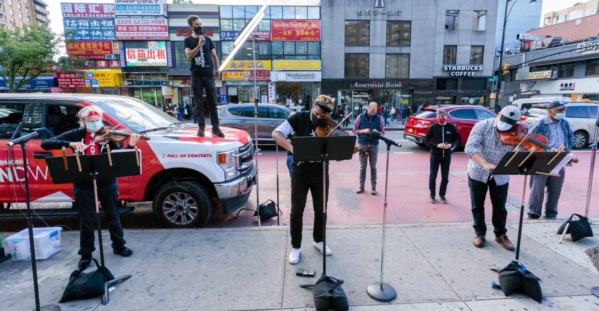 Filarmónica de NY sale a la calle a dar conciertos