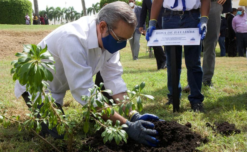 Presidente Luis Abinader encabeza acto primer día del Mes de la Reforestación