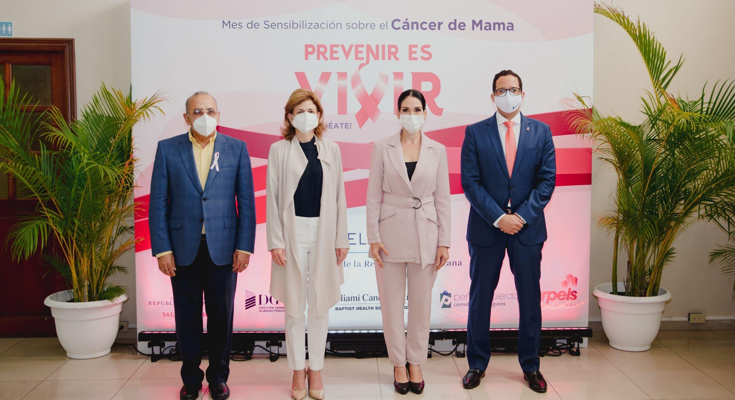 Primera Dama y DGAPP conmemoran el Día Mundial contra el Cáncer de mama