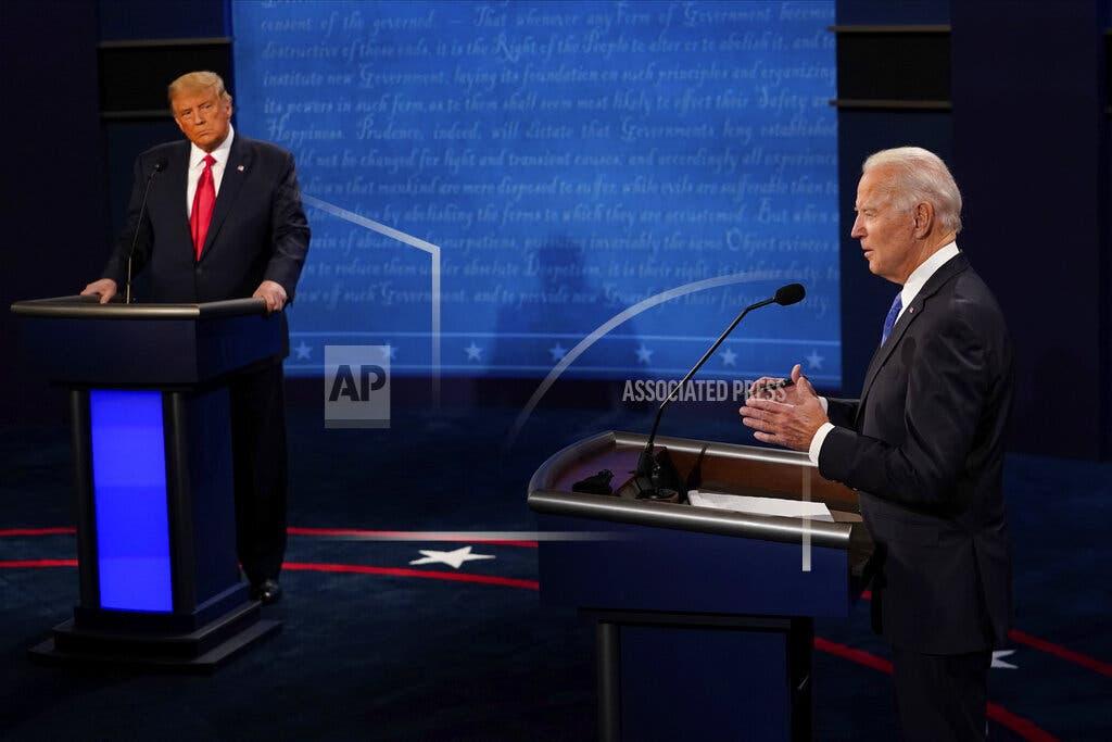 Empieza el debate de los micrófonos cerrados, el último entre Trump y Biden
