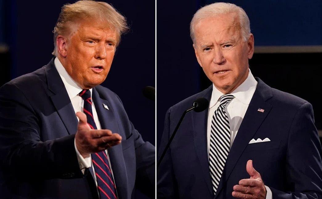 Trump y Biden se enfrentan a la distancia