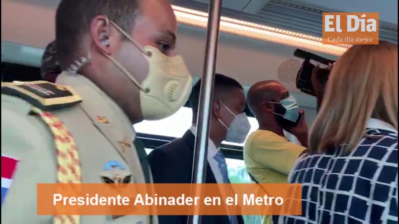 Abinader recorre instalaciones del Metro de Santo Domingo