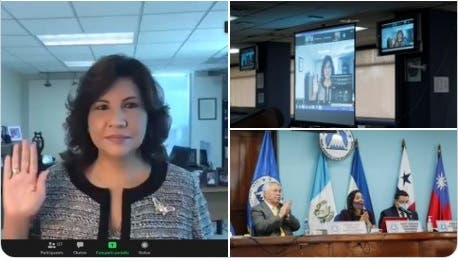 Margarita Cedeño es juramentada como diputada del Parlacen