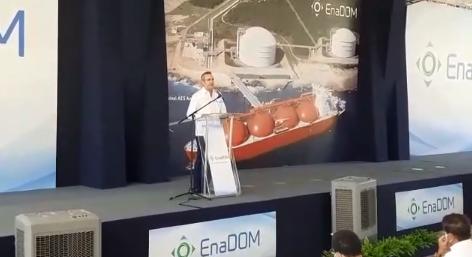 Abinader deja iniciada construcción de un nuevo tanque de almacenamiento de Gas Natural