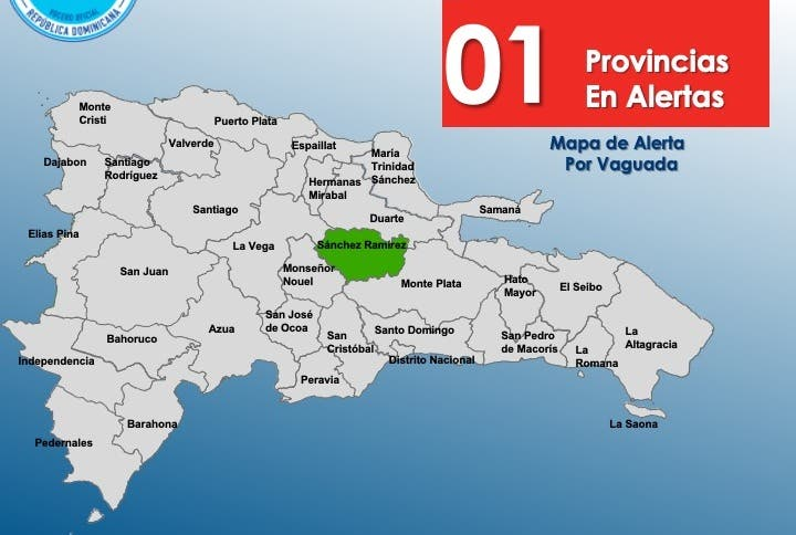 COE mantiene alerta verde para Sánchez Ramírez; la descontinúa para otras 6 provincias