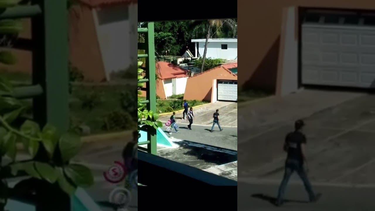 Video capta momento del operativo en que fue ultimado hombre mató 4 personas en SDE
