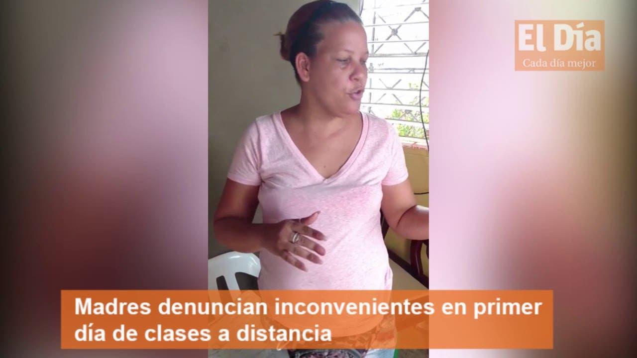 Madres denuncian inconvenientes en primer día de clases a distancia