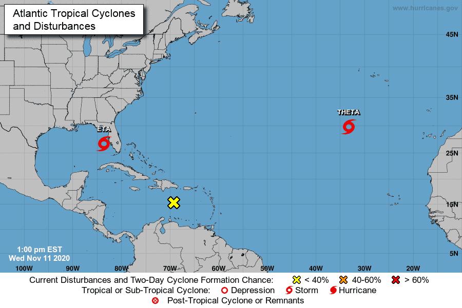 Eta se debilita a tormenta tropical