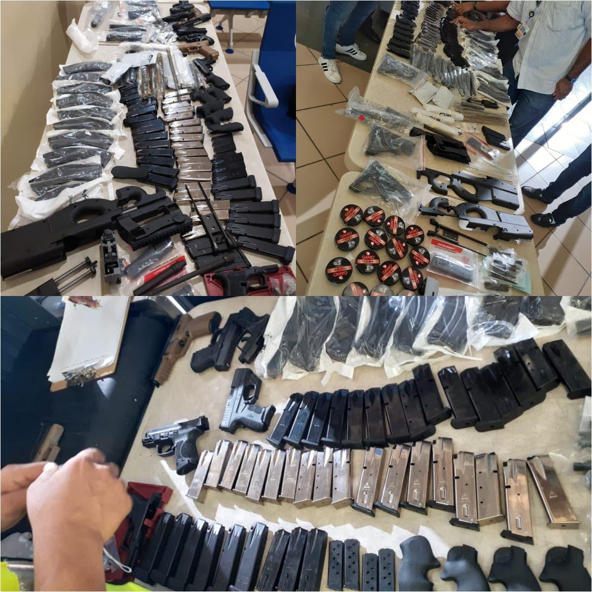 Autoridades ocupan armas y municiones en Aeropuerto Internacional del Cibao