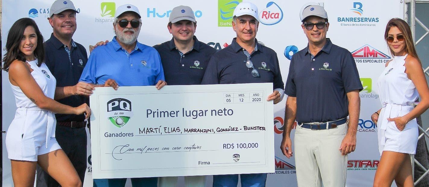 Marranzini, Martí González y Elías triunfan  golf PQ