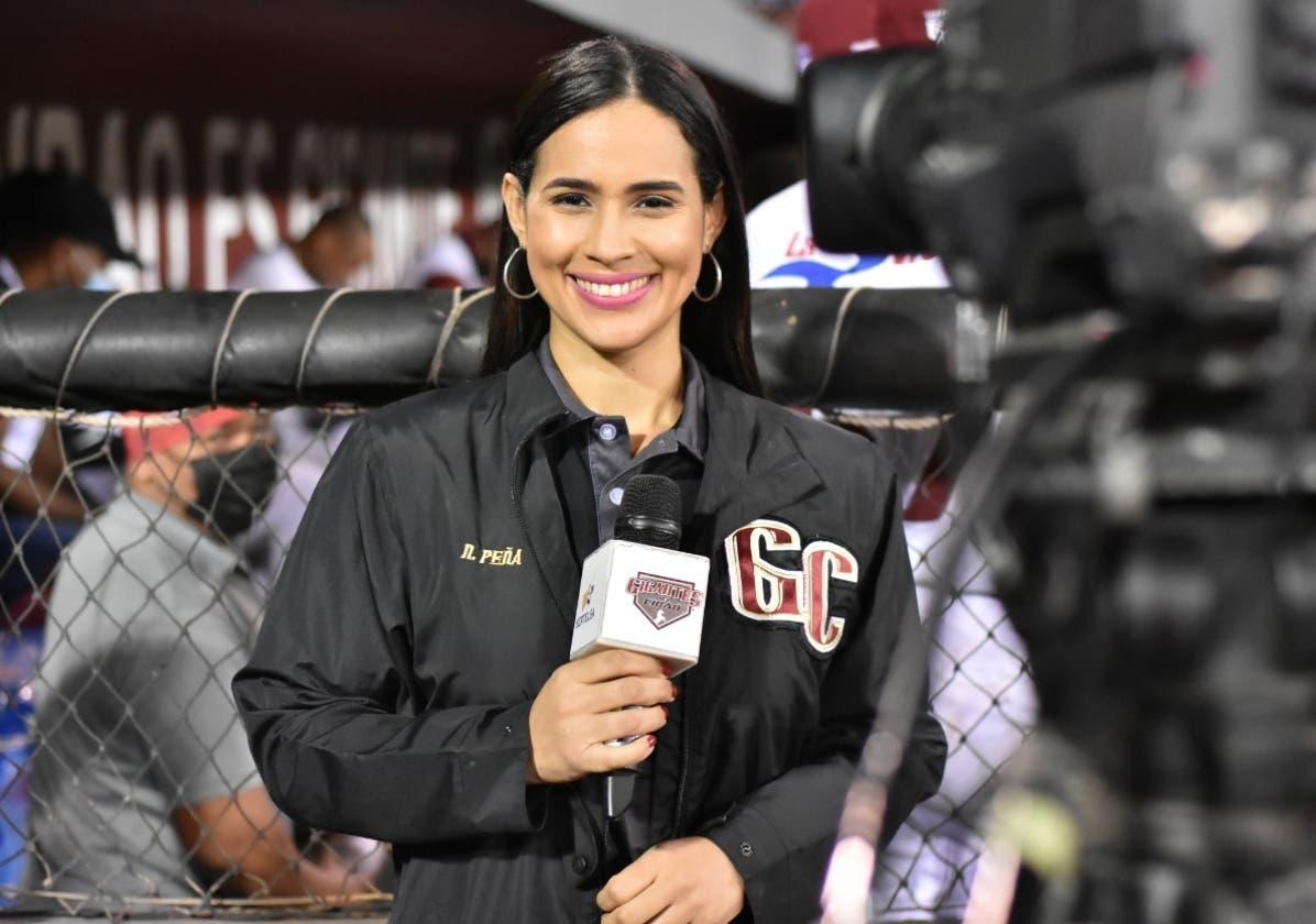 Natacha Peña brilla como periodista de Gigantes del Cibao