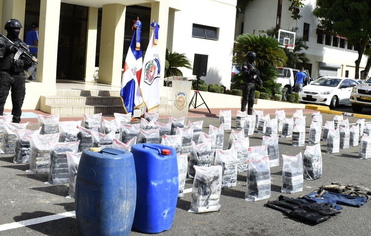 Autoridades se han incautado 1, 396 kilos de cocaína este mes