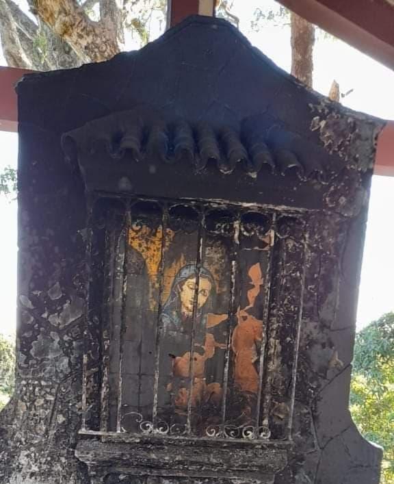 Se incendia imagen de la Virgen de la Altagracia en Dajabón