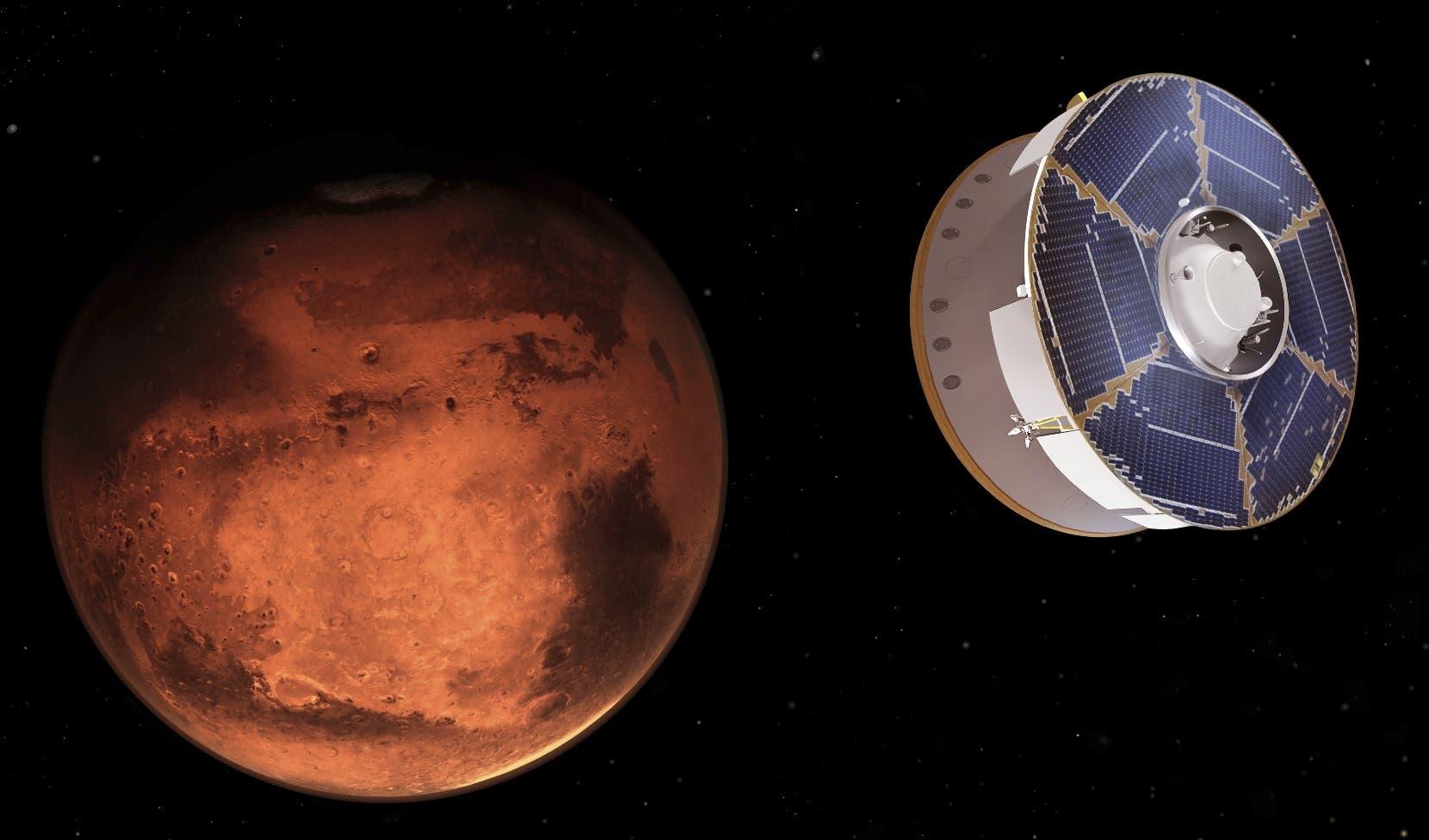 El vehículo Perseverance llega con éxito a  planeta Marte