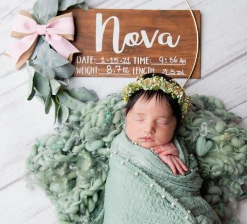 Te enseñamos las primeras fotos de Nova, hija de Al Horford y Amelia Vega