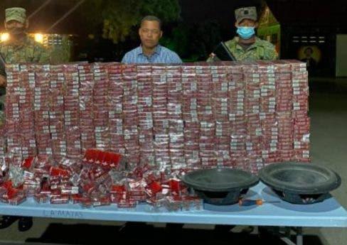 Apresan regidor de Comendador por el PLD tras ocuparle cargamento de cigarrillos